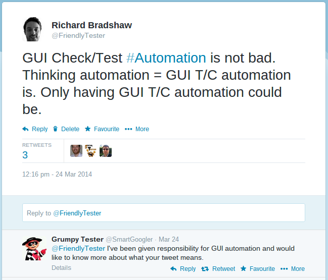 GUI Automation Tweet