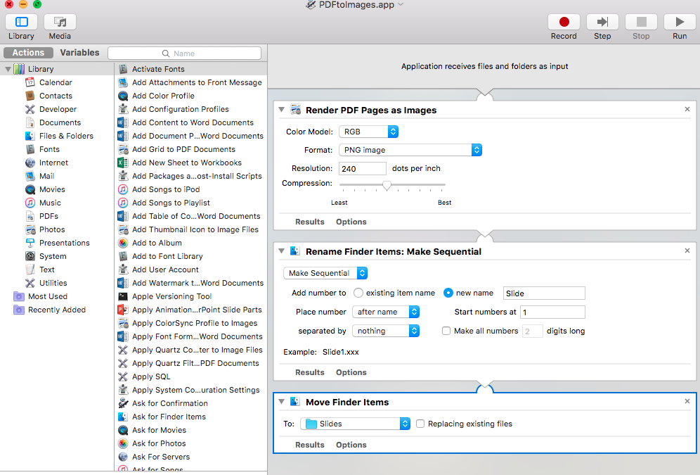 Using Automator on a Mac to Convert PDF to Images | Friendly