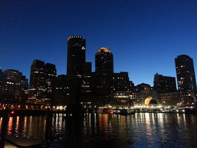 Boston, MA by night
