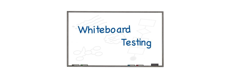 Whiteboard Testing Banner